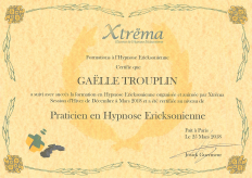 Certificat Hypnose Ericksonienne
