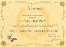 Certificat Praticien Avancé Hypnose Ericksonienne